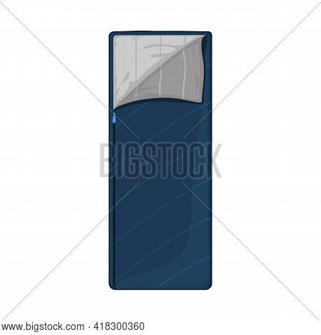 Vector Design Of Sack And Blanket Logo. Web Element Of Sack And Sleeping Stock Symbol For Web.