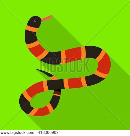 Vector Illustration Of Serpent And Black Sign. Web Element Of Serpent And Milk Stock Vector Illustra