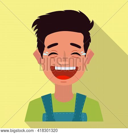 Isolated Object Of Guy And Laugh Icon. Set Of Guy And Emotion Stock Symbol For Web.
