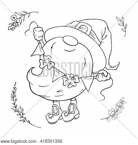 Saint Patrick S Day Holiday Set, Cute Cartoon Gnome, Leprechaun. Vector Illustration