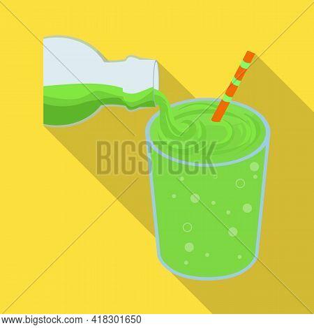 Isolated Object Of Soda And Glass Logo. Set Of Soda And Lemonade Stock Vector Illustration.