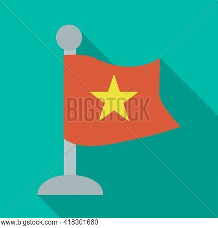 Vector Illustration Of Flag And Red Sign. Set Of Flag And Vietnamese Vector Icon For Stock.