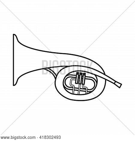 Vector Design Of Bugle And Trumpet Sign. Graphic Of Bugle And Wind Stock Vector Illustration.