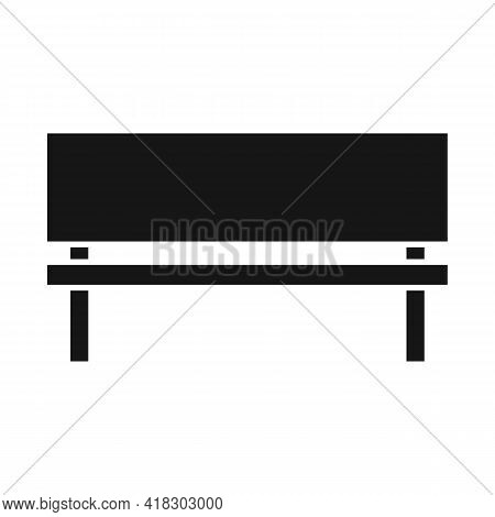 Isolated Object Of Bench And Seat Logo. Graphic Of Bench And Furniture Stock Vector Illustration.
