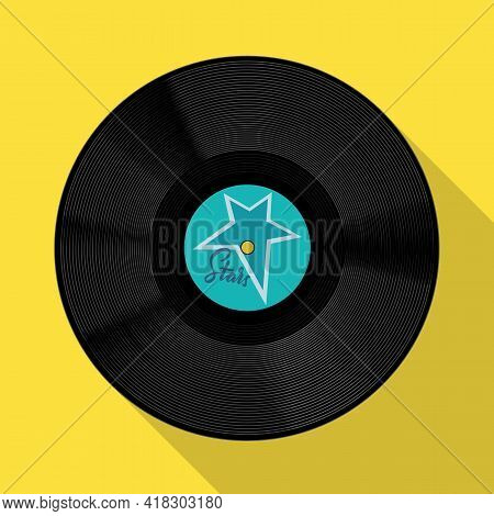 Vector Illustration Of Disk And Plate Sign. Web Element Of Disk And Soundtrack Stock Vector Illustra