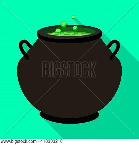 Vector Design Of Cauldron And Potion Icon. Web Element Of Cauldron And Boiler Vector Icon For Stock.