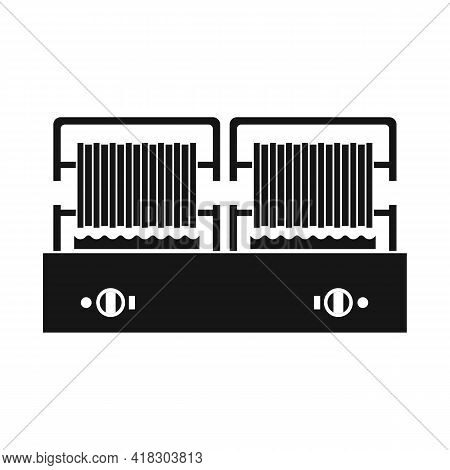 Isolated Object Of Waffle And Maker Logo. Web Element Of Waffle And Machine Stock Symbol For Web.