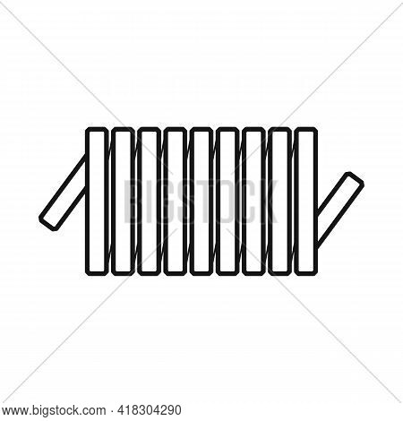 Vector Design Of Detail And Coil Logo. Graphic Of Detail And Energy Stock Vector Illustration.