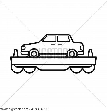 Isolated Object Of Wagon And Cargo Sign. Web Element Of Wagon And Vehicle Stock Vector Illustration.