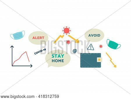 Set Of Vector Infographics On Theme Overloading Of Stress Information.
