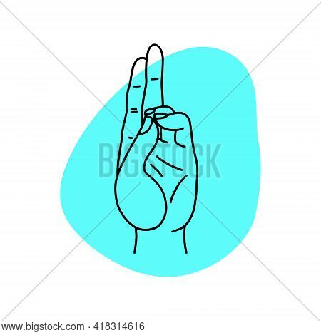Mudra - Prana. Hands Vector Illustration. Yogic Hand Gesture.
