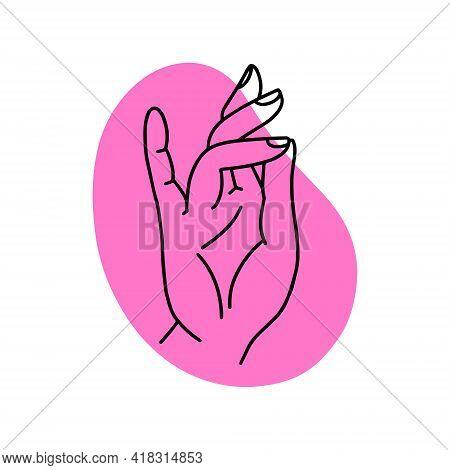 Mudra Surya. Hands Vector Illustration. Yogic Hand Gesture.