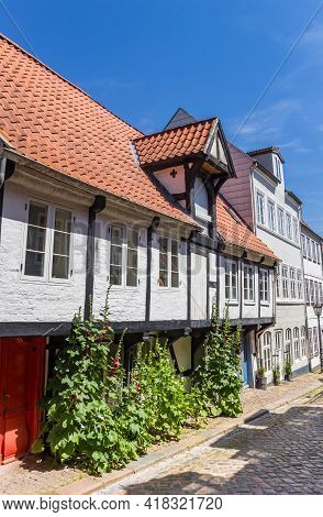 Little White Half Timbered House In Flensburg, Germany