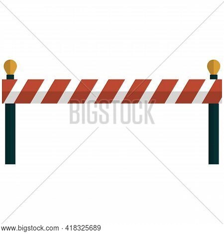 Barrier Road Icon Vector, Closed Roadblock Street Barricade