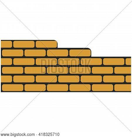 Brick Wall Vector, Building Construction And Masonry
