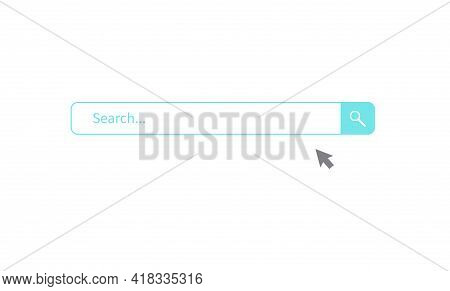 Search Bar Design Element. Search Bar For Website And Ui, Mobile Apps. Vector Illustration