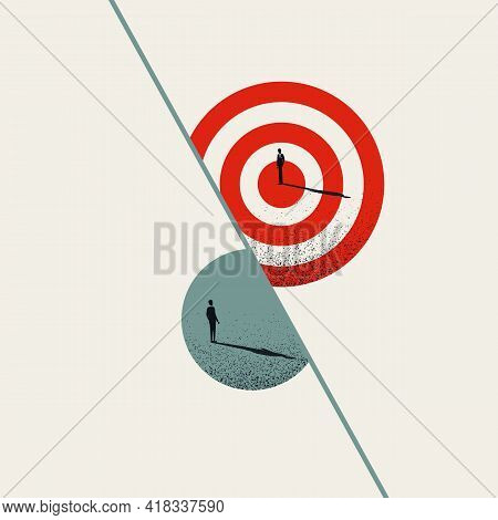 Business Goal Consulting, Vector Concept. Symbol Of Objectives, Planning And Strategy. Minimal Art I
