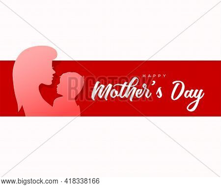 Happy Mother's Day Paper Style Card Design Vector Illustration