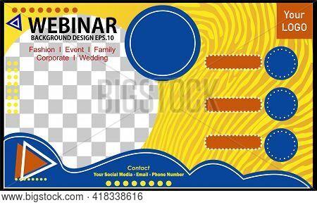 Live Webinar Invitation Template Vector Design. Live Webinar Promotional Banner Background For Socia