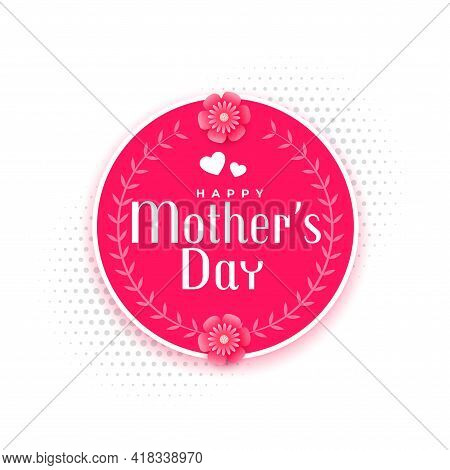 Happy Mother's Day Event Card Design Vector Illustration