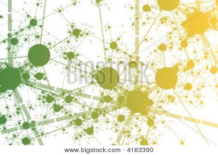 Color Network Paint Splatter Abstract Background Art poster