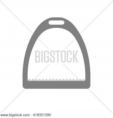Vector Flat Cartoon Horse Equestrian Saddle Stirrup Isolated On White Background