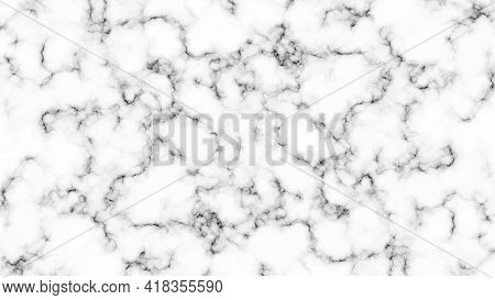 Marble Pattern. White And Gray Marble Texture. Abstract Background. Vector Illustration