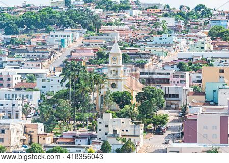 São Roque De Minas - Mg, Brazil - December 14, 2020: View Of The Urban Area Of The Brazilian Mineira
