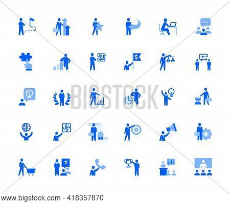 People Business And Marketing Icons Set For Personal And Business Use. Vector Illustration Icons For