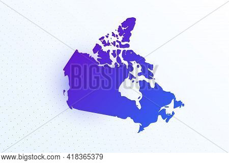 Map Icon Of Canada. Colorful Gradient Map On Light Background. Modern Digital Graphic Design. Light