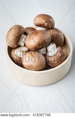 Royal Champignons, Parisian Champignons Set, On White Background