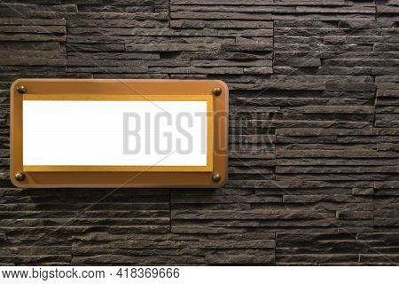 Billboard Blank For Advertising Poster Or Blank Billboard On Wall For Advertisement In Building.