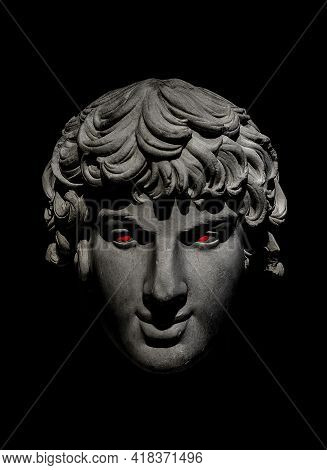 Evil Eyes Greek Bust Head Over Black