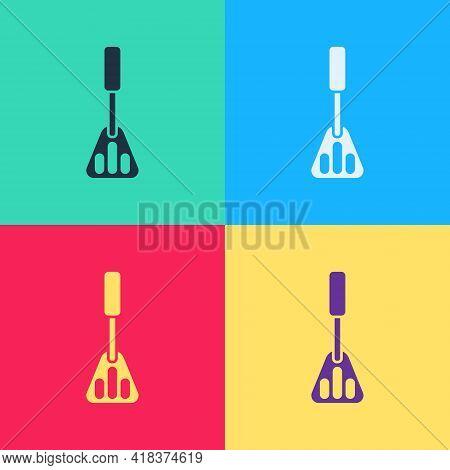 Pop Art Spatula Icon Isolated On Color Background. Kitchen Spatula Icon. Bbq Spatula Sign. Barbecue