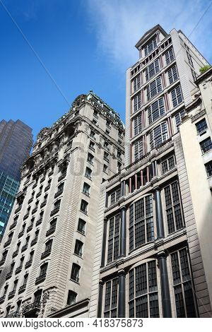 New York, Usa - July 2, 2013: Fifth Avenue Skyline In New York. 5th Avenue Is One Of Most Expensive