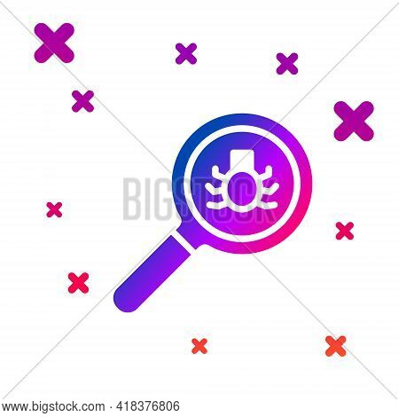 Color Flea Search Icon Isolated On White Background. Gradient Random Dynamic Shapes. Vector