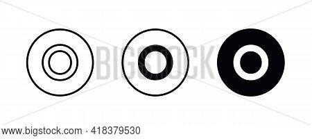 O Letter Logo, Letter O Icons Button, Vector, Sign, Symbol, Illustration, Editable Stroke, Flat Desi