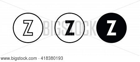 Z Letter Logo, Letter Z Icons Button, Vector, Sign, Symbol, Illustration, Editable Stroke, Flat Desi