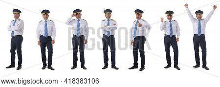 Photo Of An Airline Pilot Wearing The Four Bar Captains Epaulettes, Firlst Pilot, Aircraft Commander
