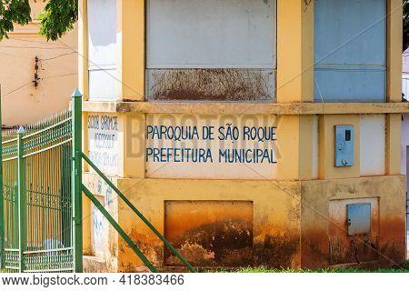 São Roque De Minas - Mg, Brazil - December 14, 2020: Part Of The Structure Of The Mother Church, Par