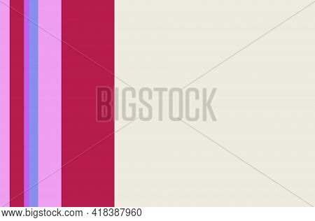 Background With Vertical Purple Lines. Colorful Vertical Stripes Pattern. Simple Seamless Texture Wi
