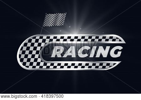 Racing Background With Checkered Flag Vector Design Illustration