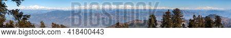 Himalaya, Panoramic View Of Indian Himalayas Mountains, Great Himalayan Range, Uttarakhand India, Vi