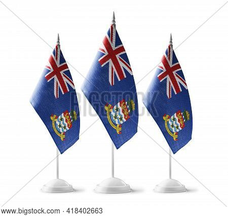 Small National Flags Of The Cayman Islands On A White Background