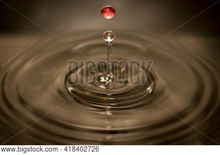 Water Splash Water Drop In The Air Liquid Drinkable Splashing Raindrop Fresh Closeup Nature Freshnes