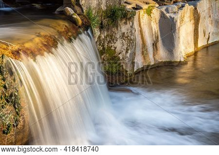 The Affenschlucht, Or Simply Called Toss Waterfalls, Are Located On The Border Between The Municipal