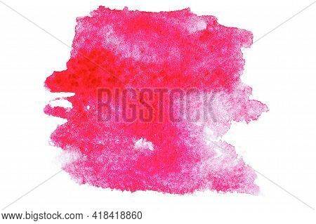 Watercolour Texture. Abstract Watercolor Paint Pattern Isolated On Water Color Paper Background. Spl