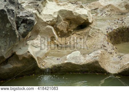 Kotli, Istria, Croatia, Mirna River Flows, Forming Waterfalls And Hollowing Cauldron-like Forms In S