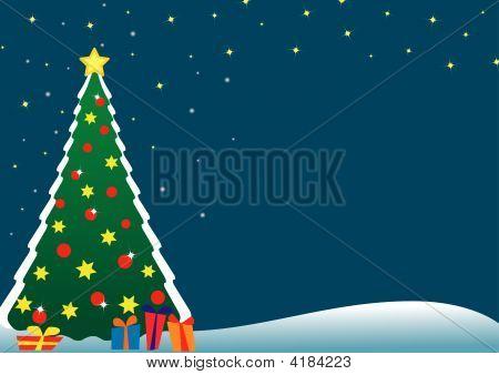 Christmas Tree Postcard.Eps