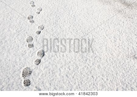 Voetafdrukken In de sneeuw achtergrond